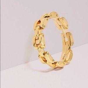Kate Spade sliced scallops link bracelet in gold